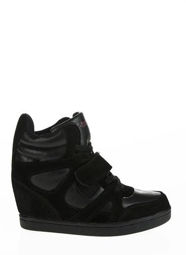 T-Box Dolgu Topuklu Bot Siyah